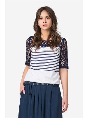 Блузка HELMIDGE. Цвет: синий,белый