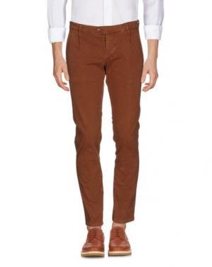 Повседневные брюки OAKS. Цвет: какао