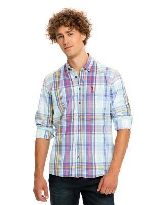Рубашки U.S. Polo Assn.. Цвет: голубой