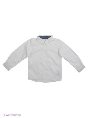 Рубашка NAME IT. Цвет: белый, светло-серый, золотистый