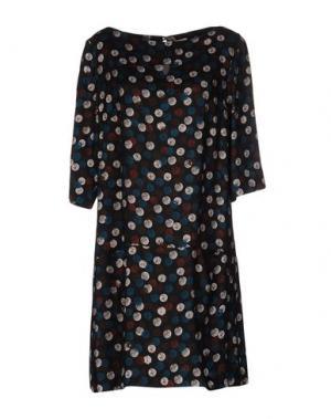 Короткое платье SIYU. Цвет: стальной серый