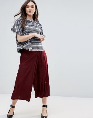 D.RA Свободная юбка-брюки. Цвет: красный