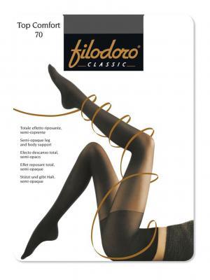 Колготки Filodoro Classic. Цвет: антрацитовый, серый
