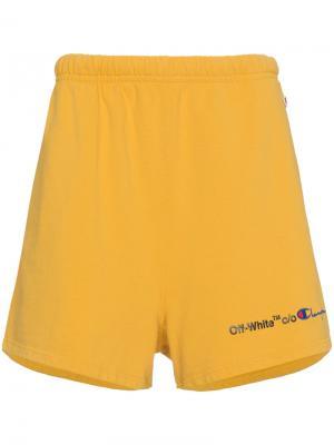 Шорты  X Champion Off-White. Цвет: жёлтый и оранжевый