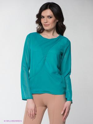 Блузка Lussotico. Цвет: бирюзовый