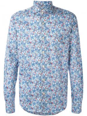 Рубашка с цветочным принтом Xacus. Цвет: многоцветный