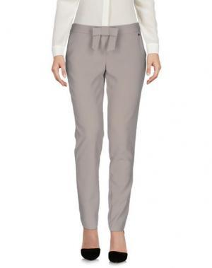 Повседневные брюки LUCKY LU Milano. Цвет: серый