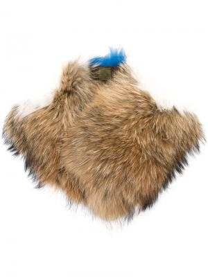 Воротник из меха лисы и енота Mr & Mrs Italy. Цвет: коричневый