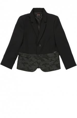 Пиджак из шерсти с декоративной отделкой Jean Paul Gaultier. Цвет: черный