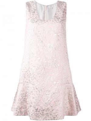 Платье с рубашечным воротником Delpozo. Цвет: розовый и фиолетовый