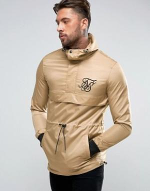 SikSilk Куртка песочного цвета через голову. Цвет: светло-серый