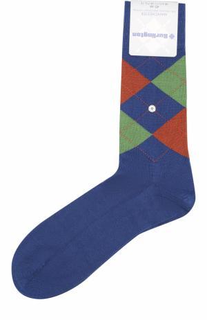 Хлопковые носки Manchester Burlington. Цвет: синий