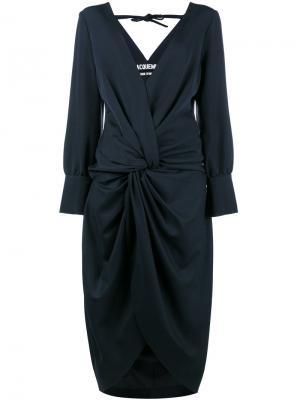 Платье La Robe Fleur с V-образной горловиной Jacquemus. Цвет: синий