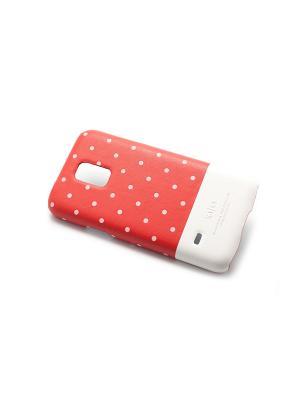 Чехол для Samsung S5 mini Neon Dot back case,Red Kajsa. Цвет: красный