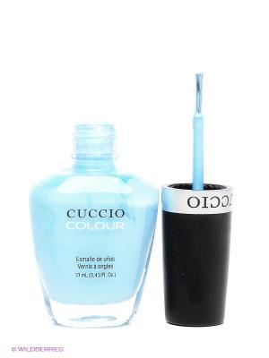 Лак Cuccio Colour Under a Blue Moo, 13 мл, голубой. Цвет: голубой