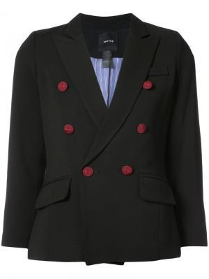 Двубортный пиджак Smythe. Цвет: чёрный