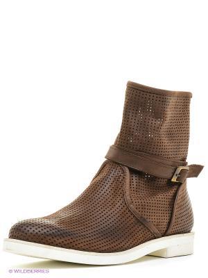 Ботинки JUST COUTURE. Цвет: коричневый, бежевый