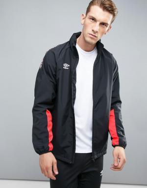 Umbro Спортивная куртка с контрастной отделкой. Цвет: красный