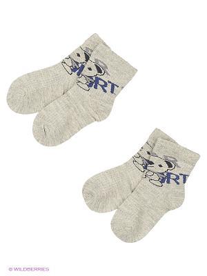 Носки, 2 пары MilanKo. Цвет: серый