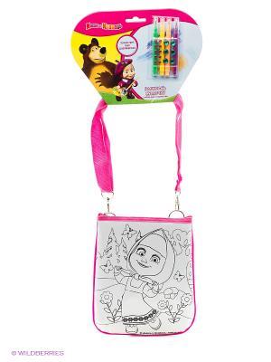 Набор для творчества  Маша и медведь. сумочка росписи на хедере Multiart. Цвет: малиновый