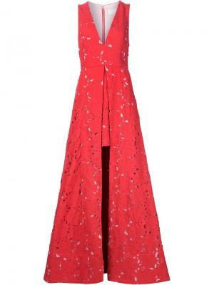 Платье Francis Alice+Olivia. Цвет: красный