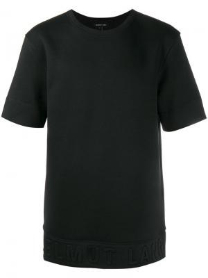 Объемная футболка Helmut Lang. Цвет: чёрный