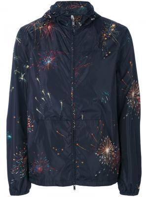 Fireworks print windbreaker Valentino. Цвет: синий