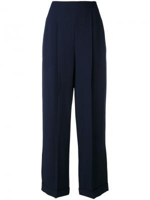 Зауженные брюки Salvatore Ferragamo. Цвет: синий