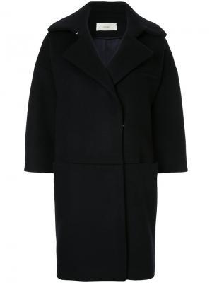 Свободное пальто The Secretcloset. Цвет: синий