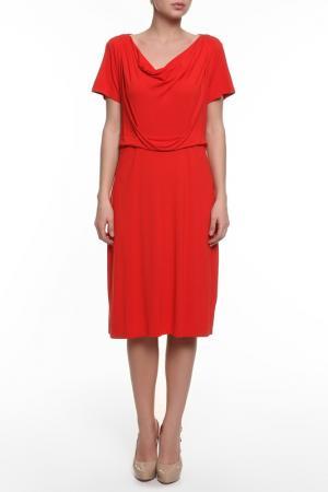 Платье джерси PERSONA. Цвет: красный