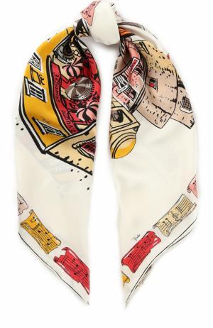 Шелковый платок с принтом Emilio Pucci. Цвет: разноцветный