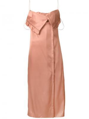 Платье на тонких лямках-спагетти Edun. Цвет: розовый и фиолетовый