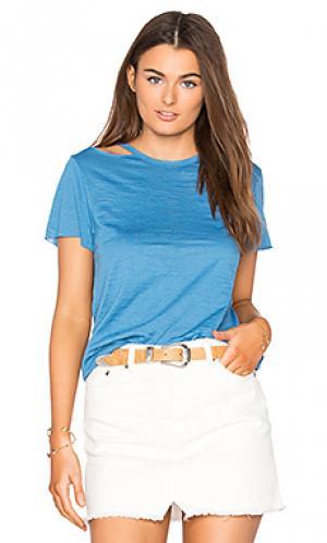 Топ с открытыми плечами eli Nation LTD. Цвет: синий