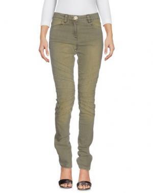 Джинсовые брюки DANIELA DALLA VALLE ELISA CAVALETTI. Цвет: зеленый-милитари