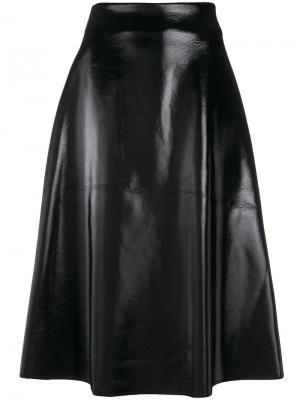 Пышная юбка миди Yang Li. Цвет: чёрный