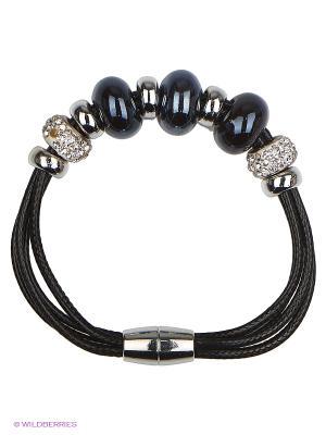 Браслет Lovely Jewelry. Цвет: черный, серебристый, синий