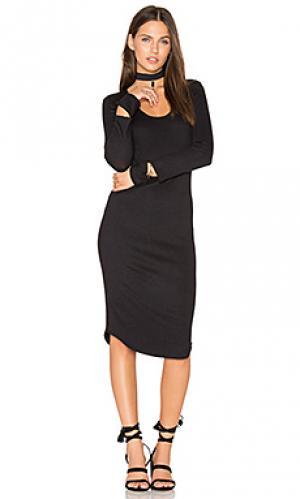 Платье с вырезами MONROW. Цвет: черный