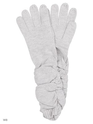 Перчатки Pur. Цвет: светло-серый