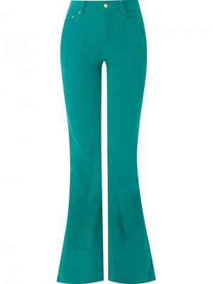 Flared velvet trousers Amapô. Цвет: зелёный