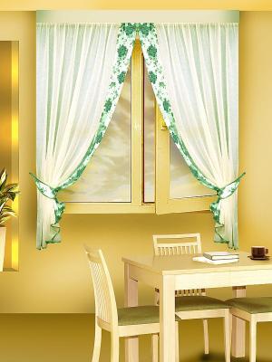 Комплект штор ZLATA KORUNKA. Цвет: салатовый, зеленый