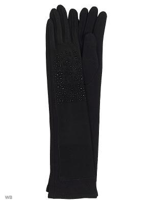 Перчатки женские комбинированные длинные Cascatto. Цвет: черный