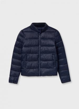 Куртка с принтом OSTIN. Цвет: черно-синий
