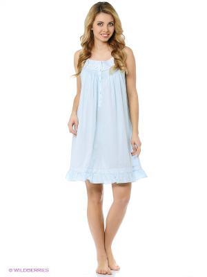 Ночная сорочка Eileen West. Цвет: голубой