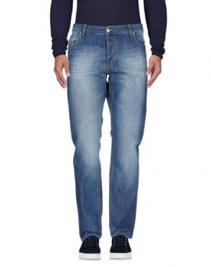 Джинсовые брюки MASSIMO BRUNELLI. Цвет: синий