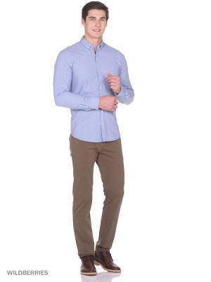 Рубашка Men of all nations. Цвет: голубой