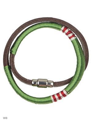 Браслет United Colors of Benetton. Цвет: коричневый, белый, зеленый, красный