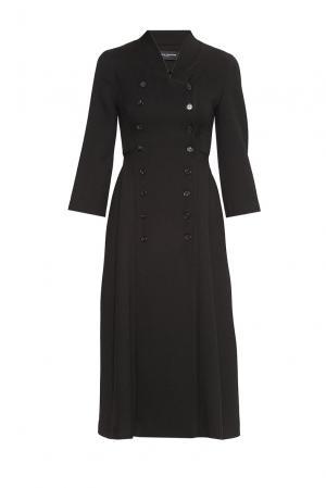 Платье из искусственного шелка 180594 Cyrille Gassiline. Цвет: черный