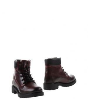 Полусапоги и высокие ботинки BULL BOXER. Цвет: красно-коричневый