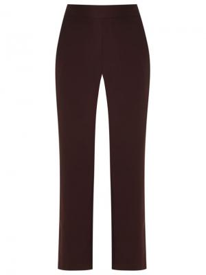 Прямые брюки с высокой талией Andrea Marques. Цвет: розовый и фиолетовый