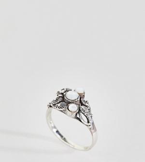 Kingsley Ryan Серебряное кольцо с лунным камнем. Цвет: серебряный
